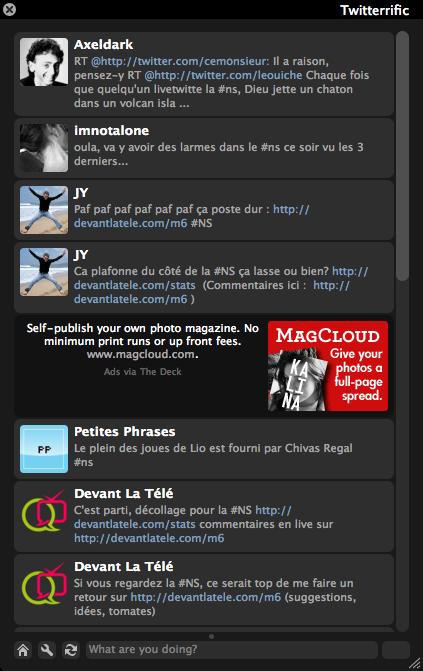 Twitterrific pour devantlatele.com