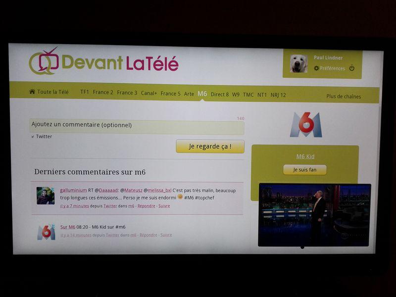DevantLaTeleGoogleTV